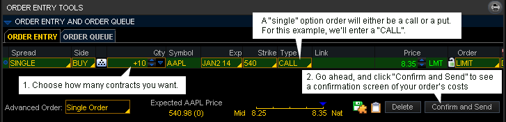 How to buy options in tos